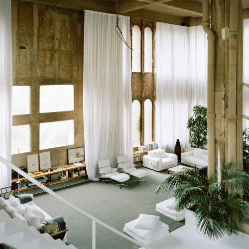 Ricardo Bofill cement factory living room office
