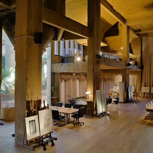 Ricardo Bofill cement factory office interior