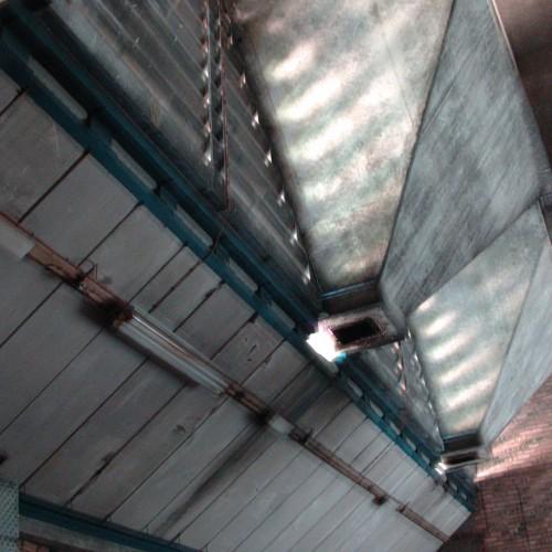 Dingleton Boilerhouse by Peter Womersley interior photo of hoppers CJ Hurst