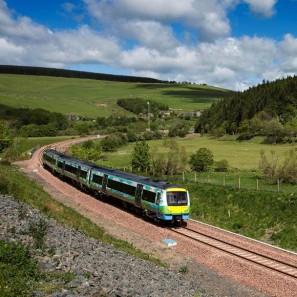 New Borders Rail train link Tweedbank to Edinburgh