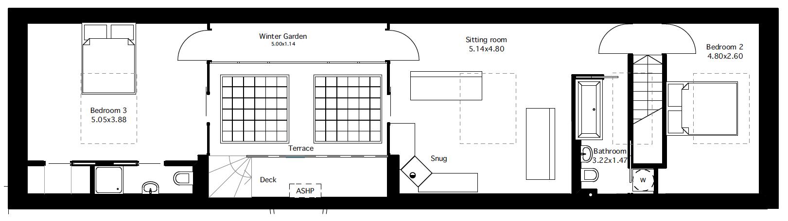 Flat 2 fourth floor plan