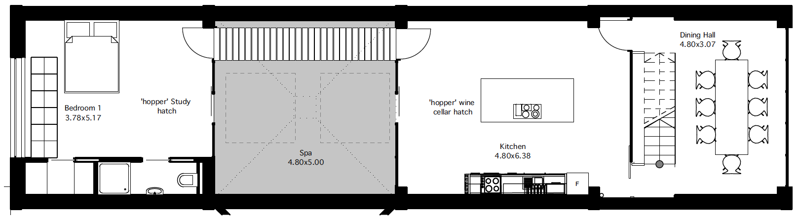 Flat 2 third floor plan