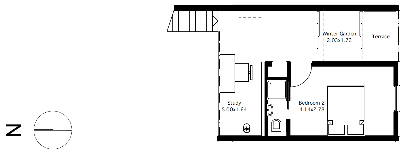 Flat 3 first floor plan