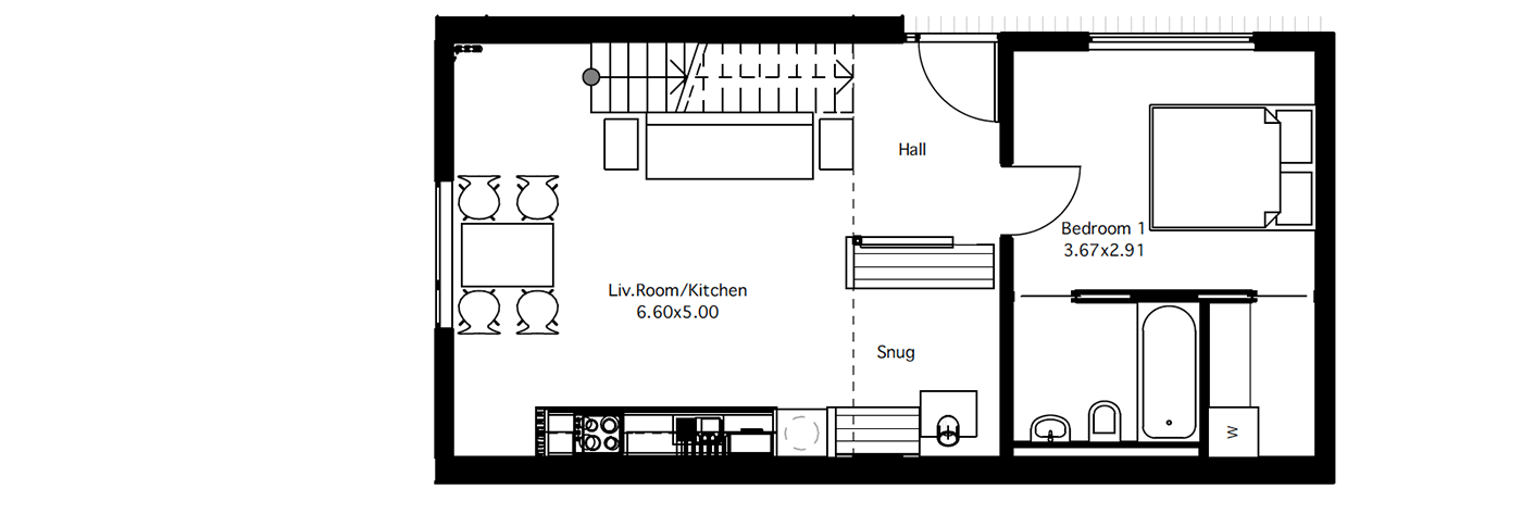 Flat 3 ground floor plan