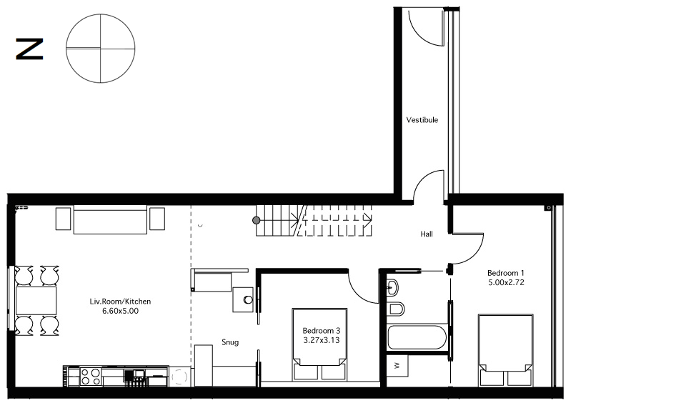 Flat 4 ground floor plan