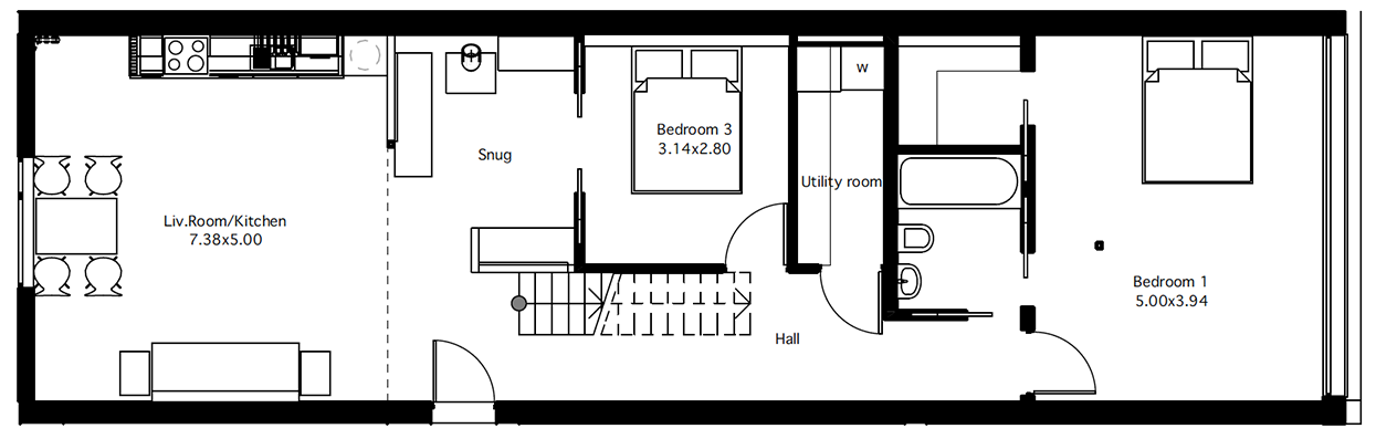 Flat 5 Ground Floor Plan