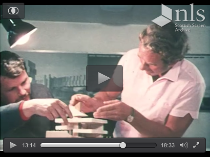 Peter Womersley discussing the Ferranti House model excerpt 3 from the Scottish Screen Archive