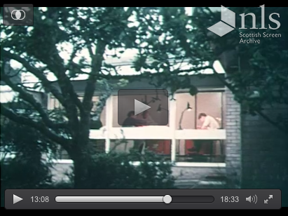 Peter Womersley in his Gattonside office the Rig in 1970, excerpt 2 from the Scottish Screen Archive