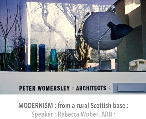 R Wober gives a talk on Peter Womersley during the Edinburgh Festival at the Scottish National Gallery, Hawthornden Lecture Theatre, The Mound, 10th August 12.45- 1.30pm